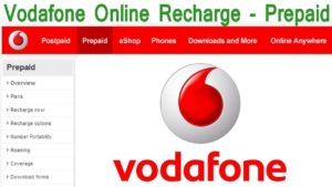 Easy Vodafone Prepaid Online Recharge and Online Bill Payment